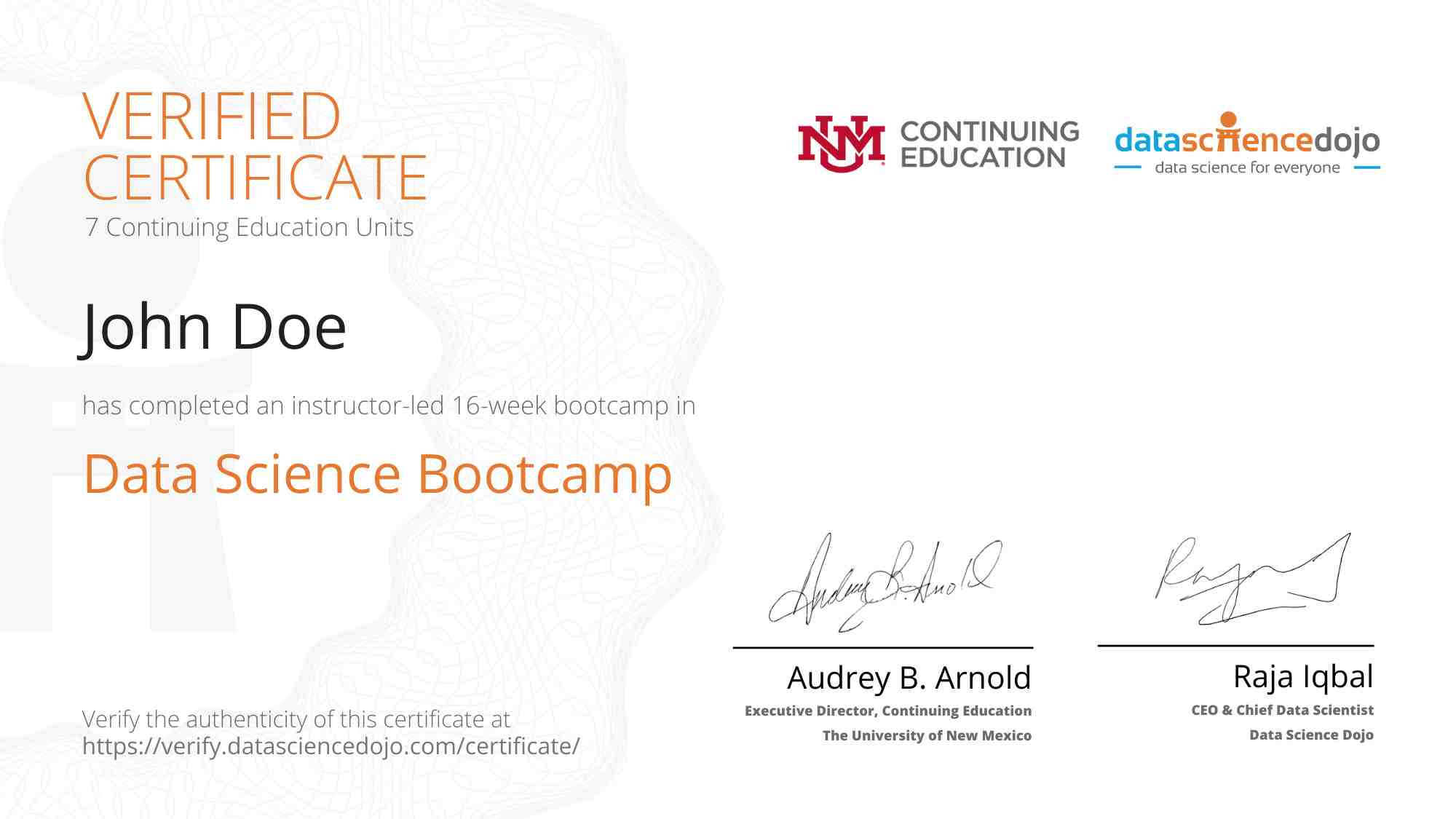Bootcamp Certificate 1 » Data Science Dojo