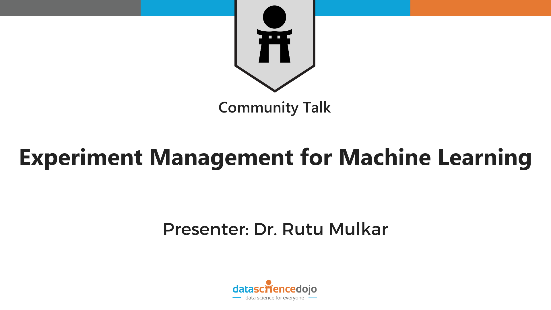 experiment management for machine learning » Data Science Dojo